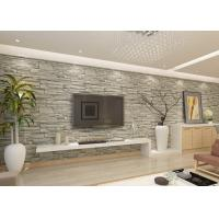 Wholesale Stylish Removable Faux 3D Brick Effect Wallpaper with Grey Stone Pattern for Living Room from china suppliers