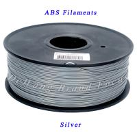 Wholesale Professional silver abs filament / abs 3d printing filament in plastic rods from china suppliers