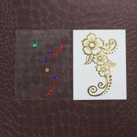 Wholesale Gold Foil Body Makeup Rhinestone Tattoo Stickers With Crystal Waterproof from china suppliers