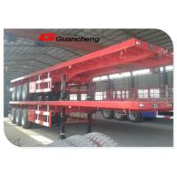 Wholesale Leaf Spring Suspension Heavy Duty Semi Trailer For 20ft / 40ft Container Transporting from china suppliers