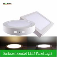 Wholesale Surface Mounted LED Panel Light 6w 12w 18w Round/Square LED Ceiling Lights Free Shipping LED Downlight AC85-265V from china suppliers