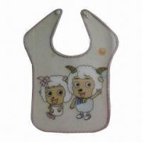 Wholesale Waterproof Baby Bib, Various Colors are Available, Made of 100% Cotton from china suppliers