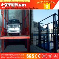 Wholesale 4-12m lifting height guide rail chain hydraulic goods ladder lifter from china suppliers