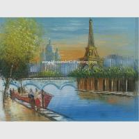 Wholesale Modern Paris Oil Painting Eiffel Tower Handmade Jane Style Maintaining Freshness from china suppliers