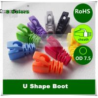 Wholesale 8 Colors RoHS U Boots Cat6 Shielded Boots 7.5MM Colorful U Sheath Shielded Boots from china suppliers