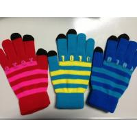 Wholesale Colorful Custom Warm Smartphone Friendly Gloves With Touch Screen Fingertips from china suppliers