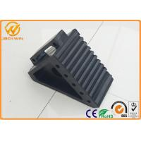 Wholesale Black Recycled Rubber Wheel Chock Car Parking Stopper Waterproof 1.9 kg Weight from china suppliers