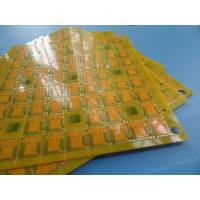 Wholesale Multilayer Via In Pad PCB FR4 0.5 Mm Yellow GPS Antenna PCB Design from china suppliers
