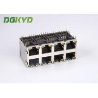 Quality Stack RJ45 Connector Dual Deck 2X4 Y/G RoHS 0879-2D4R-56 Plug Modular jack Rj45 for sale