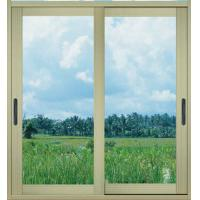 Buy cheap 1.0mm - 1.2mm profile thickness electrostatic powder coated aluminum sliding glass doors from wholesalers