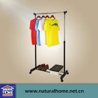 Wholesale Single Pole Portable Mobile Clothes Drying Racks with Wheels , Metal Clothes Hanger from china suppliers