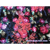 Wholesale New burnout antistatic flower polyester fabric miro velvet fabric women apparel fabric from china suppliers
