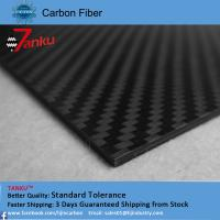 Wholesale High strength light weight carbon fiber plate 1.0TM matte finish from china suppliers