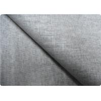 Wholesale Grey Linen Upholstery Fabric Sportswear / Curtain Lining Fabric from china suppliers