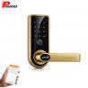 LCD Screen Fingerprint Scanner Door Lock Aluminum Alloy Electric Glass Doors for sale