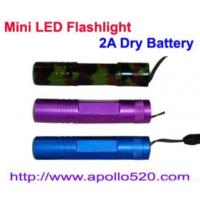 Quality Mini Led Flashlight 2a Dry Battery for sale