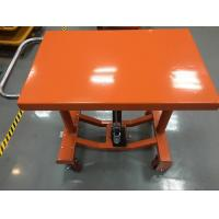 Wholesale Four Wheels Electric Hydraulic Lift Table Adjustable Height 610 X 915 Mm Table Dimensions from china suppliers