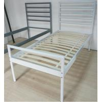 Wholesale Sturdy metal bed, color customzied and single size, easy to assemble from china suppliers