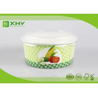Wholesale Custom Logo Printed Disposable Salad Paper Bowls with Clear Lids from china suppliers