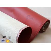 Wholesale 800℃ 0.8mm Red Silicone Coated High Silica Fabric For Heat Insulation from china suppliers
