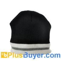 Wholesale Warm Beanie Hat with Headphones (Black with White/Grey Stripe) from china suppliers