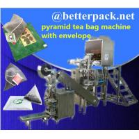 Wholesale pyramid tea bag machine with outer envelope device from china suppliers