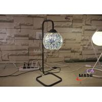 Wholesale Hot Sale Maso Metal Material Lamp Body Black Color Finishe Table Lamp Bed Lamp 3D Spark Effect Chrome-plated Glass Cover from china suppliers