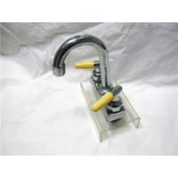 Wholesale Chrome Plated Two Handle Kitchen Faucet With Pull Down Sprayer / Two Ceramic Handle from china suppliers