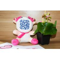 Wholesale Custom Fiber Cotton Stuffed 3D Face Dolls to place QR Code photo from china suppliers