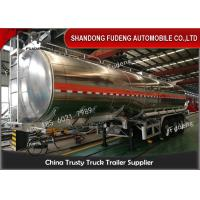 Wholesale 10000 Gallon 33000L Petroleum Fuel Tanker Semi Trailer Mirror Aluminum Tanker from china suppliers