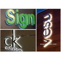 Wholesale Metal / Acrylic Illuminated Stainless Steel Signs Professional Production Advice from china suppliers
