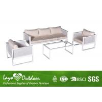 UV Protection / Waterproof Patio Seating Sets 4 PCS Aluminium Garden Sofa Set