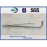 China Hot Forging Anchor Bolt DIN ASTM Standard L-Bolt J-Bolt Y-Bolt on sale