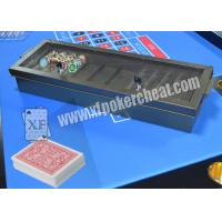 Wholesale Casino Metal Chiptray Hidden Lens Gambling Cheat Devices , Distance 15cm - 20cm from china suppliers