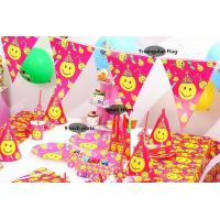 Wholesale Popular Smile Face Theme disposable tableware set birthday party decoration party supplies from china suppliers