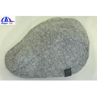 Wholesale Customized Flat / Peaked / Casquette Caps / Hats Grey body / Black lining from china suppliers