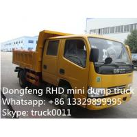 Wholesale Dongfeng Twin cab RHD mini 3ton dump truck for sale, hot sale mini dump truck, RHD mini tipper truck for sale from china suppliers