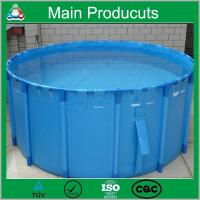 Wholesale Renewable Energy Projects PVC Portable PVC Plastic Fish Tank 0.5m3-50m3 from china suppliers