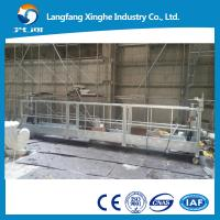 Quality 7.5m steel suspended access platform , zlp800 aerial working gondola , ltd80 hoist electric cradle , lifting scaffolding for sale