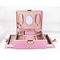 Wholesale Leather Portable Jewellery Display Cases Pandora Jewelry Box PVC Leather Jewellery Box from china suppliers