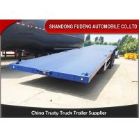 Wholesale 40ft / 20ft  Double Tire 50 Ton Flatbed Cargo Trailer Leaf Spring Suspension from china suppliers