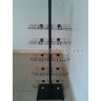 Wholesale Caps High End Metal Store Fixtures 5 Shelves Double Sided Display Stand from china suppliers