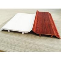 Wholesale Decorative White PVC Skirting Board 10CM Height Hot Stamping Finish from china suppliers