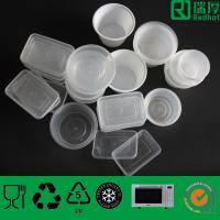 Quality Eco-friendly clear disposable  round food container with Lid 300ml-3500ml for sale