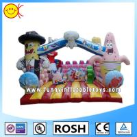 Wholesale Love Cartoon Inflatable Combo Bouncers Spongebob Bouncy Castle from china suppliers