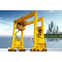 Wholesale Rubber Tired Container Gantry Crane Double Girder Rail Mounted For Outdoor from china suppliers
