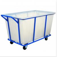Buy cheap K500 Rotational Plastic laundry trolley cart  with loading capacity 400- 500kg from wholesalers