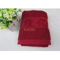 Wholesale 32s Gift Embroidered Hand Towels Jacquard Stripe Satin Edge INTERTEK from china suppliers