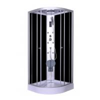 Wholesale Steam Massage with Electronic computer panel Circle Quadrant Shower Cabin with white acrylic tray and roof from china suppliers