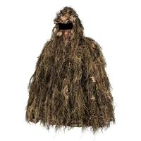 China 3D Leaf Gillie Pull Set Leafy Hunting Suit Sneaky Ghillie Pull Over Set Gloves for sale